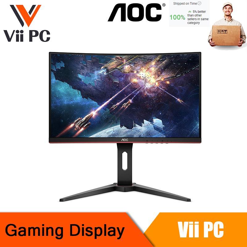 AOC C27G1 27 Curved Frameless Gaming Monitor FHD 1080p 1800R VA panel 1ms 144Hz FreeSync DP/HDMI/VGA Cable Provider  Height adjustable VESA 3-Year Zero Dead Pixels