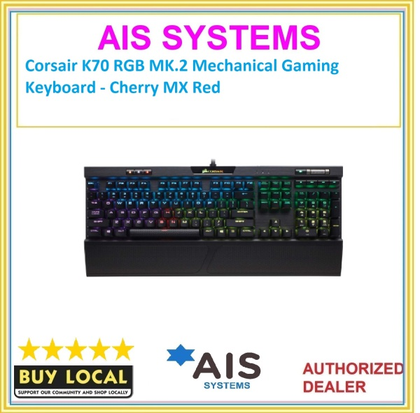 Corsair K70 RGB MK.2 Mechanical Gaming Keyboard - Cherry MX Red Singapore