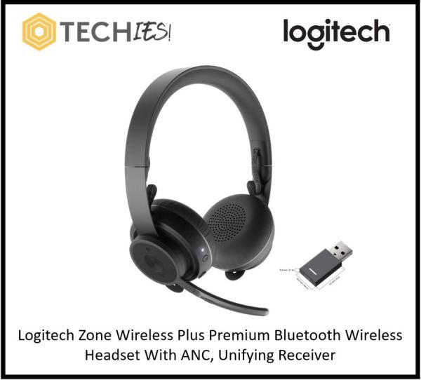 Logitech Zone Wireless Plus Premium Bluetooth Wireless Headset With ANC, Unifying Receiver & wireless charging Singapore