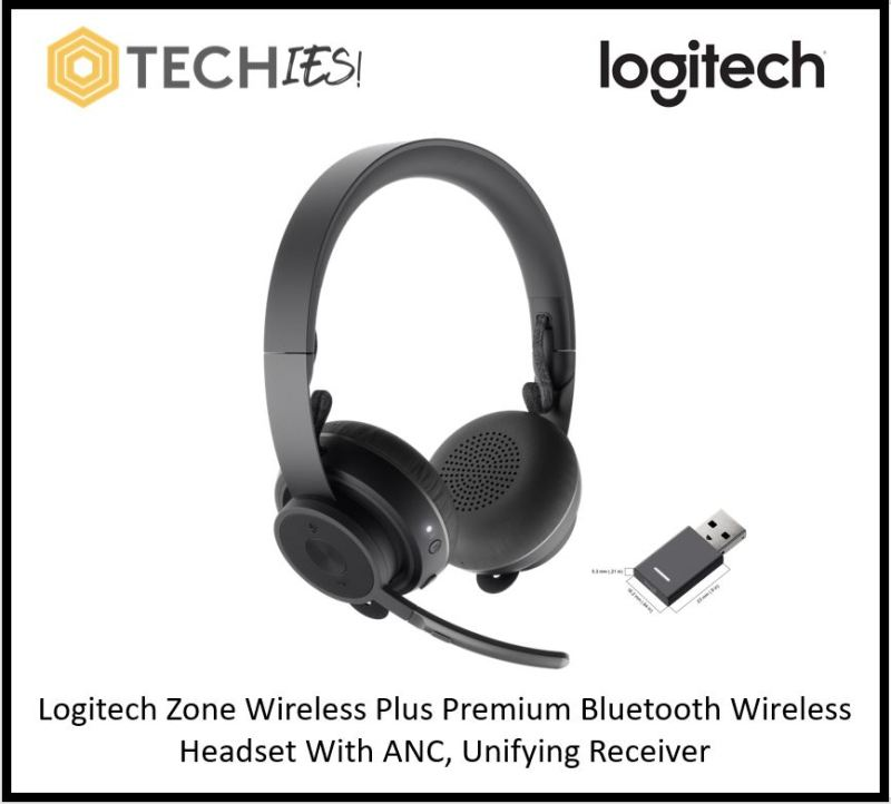 Logitech Zone Wireless Plus Premium Bluetooth Wireless Headset With ANC, Unifying Receiver & wireless charging Singapore