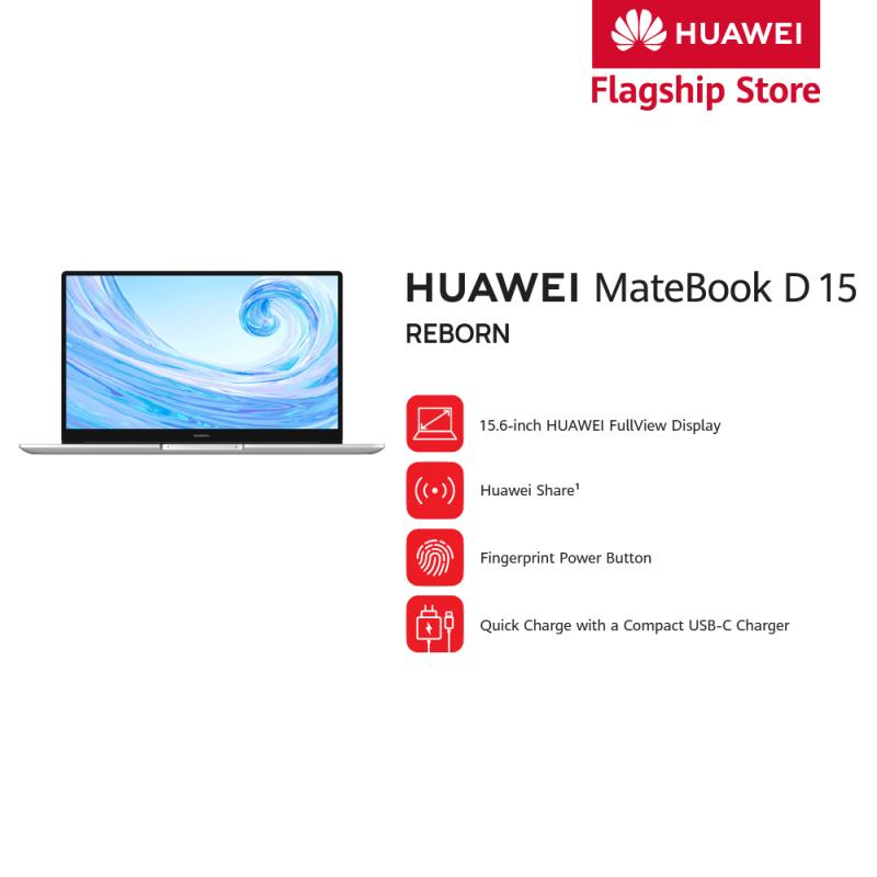HUAWEI MateBook D15 (8GB RAM / 256GB SSD + 1TB HDD / AMD Radeon Vega 8 / 15.6 Screen)