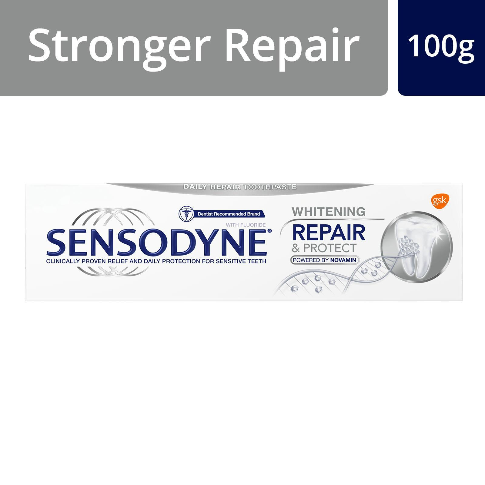 Sensodyne Sensitive Repair and Protect Whitening Toothpaste, 100 g