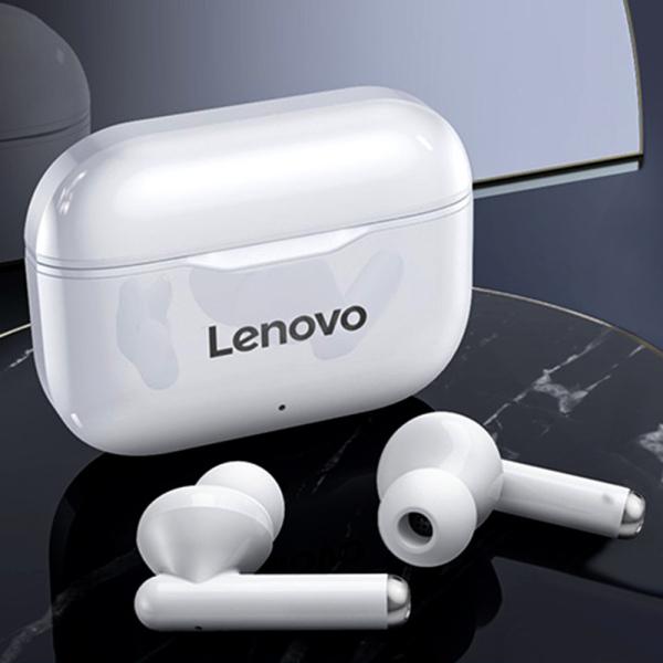 Lenovo LivePods LP1 Flagship Phiên bản cao cấp Tai nghe không dây thực sự Tai nghe BT 5.0 Tai nghe âm thanh nổi với màng kép Máy chủ kép Tai nghe chống nước IPX4 Tai nghe thể thao với Công nghệ giảm tiếng ồn Tai nghe mic tích hợp HD gọi trong tai