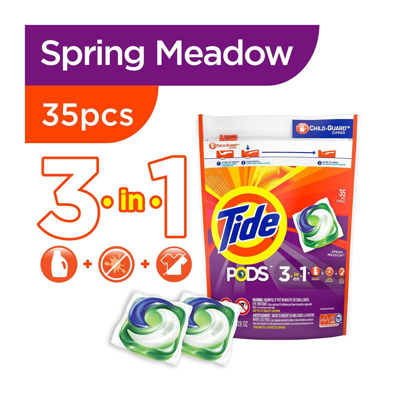Tide Pods Spring Meadow Laundry Detergent Pacs 35 PCS