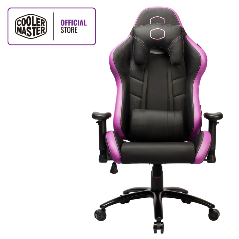 Cooler Master Caliber R2 Gaming Chair, EXtra Breathable PU Leather Coverage, Soft-padded Armrests with Omni Directional Adjustments, Ergo Headrest & Lumbar Pillow
