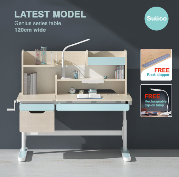 Suuco Genius Series Table | Height Adjustable Study Table Desk For Kids | Height Adjustable Study Table Desk for Children