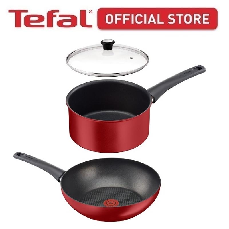 Tefal Chef Delight Special Wokpan 28cm and Saucepan 20cm w/lid (C69819+C69830+28097N) CWS274 Singapore