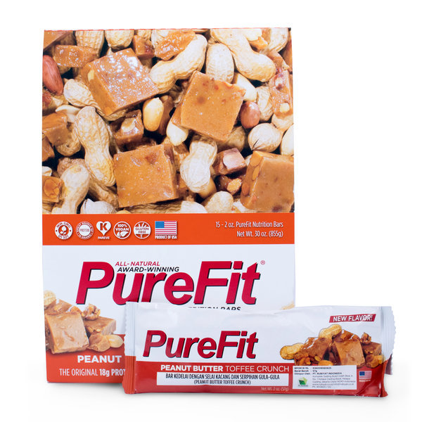 Buy PureFit Peanut Butter Toffee Crunch Nutrition Bars Singapore