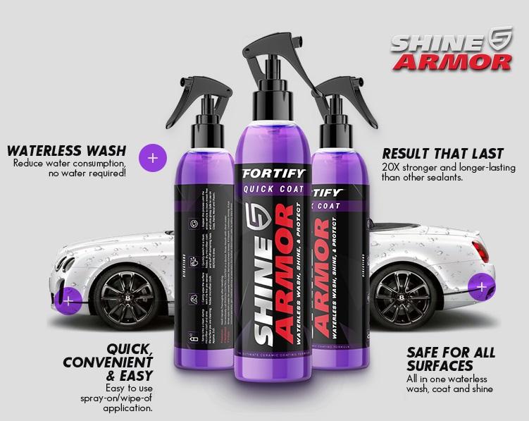 Shine Armor Fortify Quick Coat – Car Ceramic Spray Coating - Waterless Car Wash And Polish.