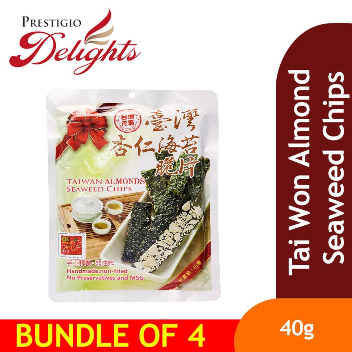 Tai Won Almond Seaweed Chips Bundle Of 4 By Prestigio Delights.