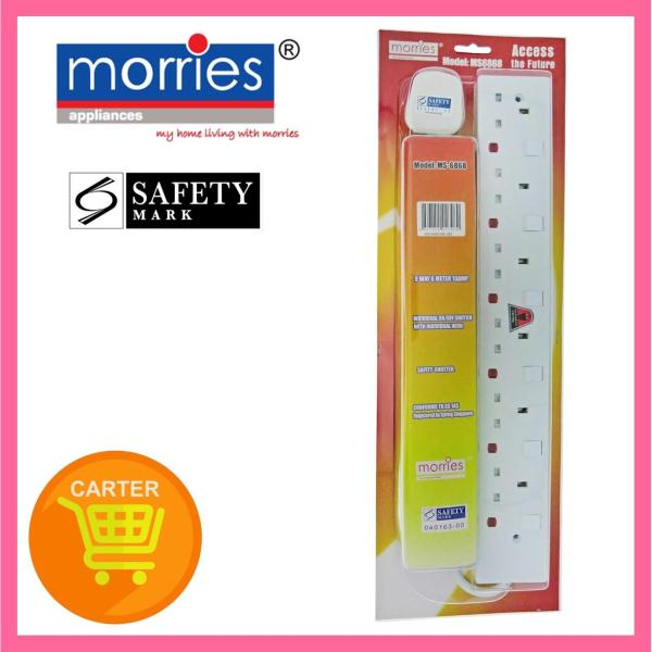 Morries 6M 6-Way 13A Extension Cord Ms 6868 N6