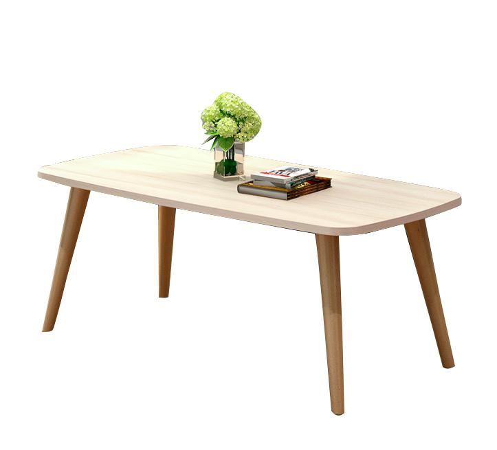 [100cm*50cm] Compact Coffee Table Small Size Simple Design Solid Wood Leg