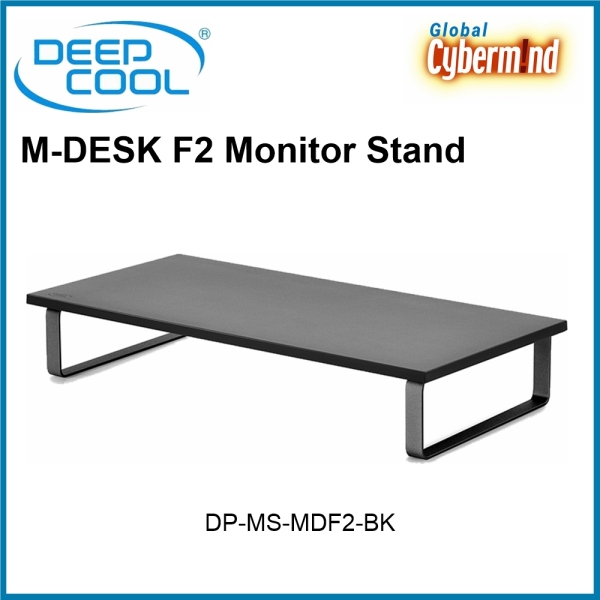 DEEPCOOL M-DESK F2 Monitor Stand [DP-MS-MDF2-BK] ( Brought to you by Global Cybermind )