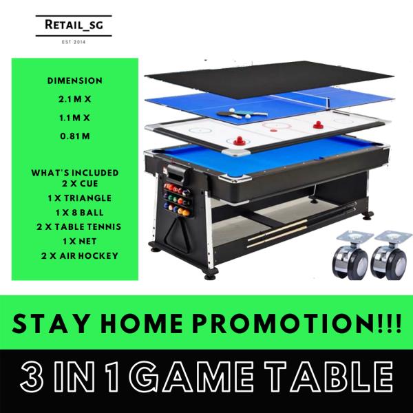 3 In game table tennis / pool / air hockey