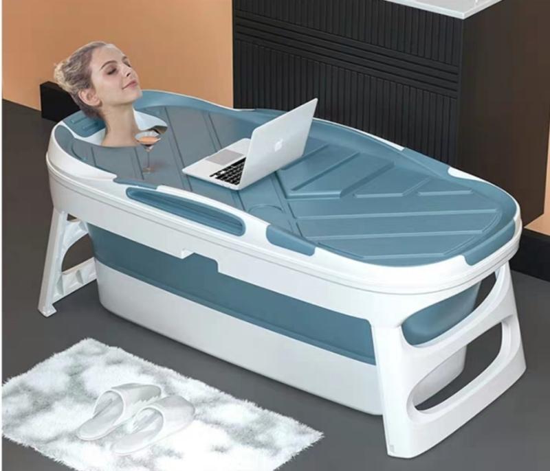 Buy 【Local Seller】Adult Portable Bath Tub 1.4m Adult Foldable Plastic Bathtub Thickened Bath Bucket Folding Bathtub Baby Swimming Bath Singapore