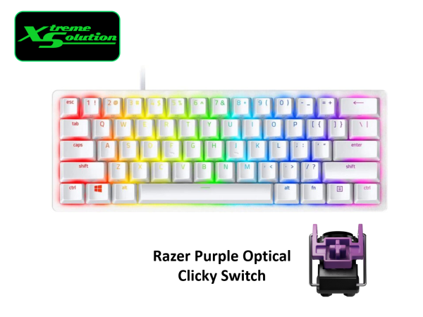 Razer Huntsman Mini 60% Gaming Keyboard with Razer™ Optical Switch (Black / White) Singapore