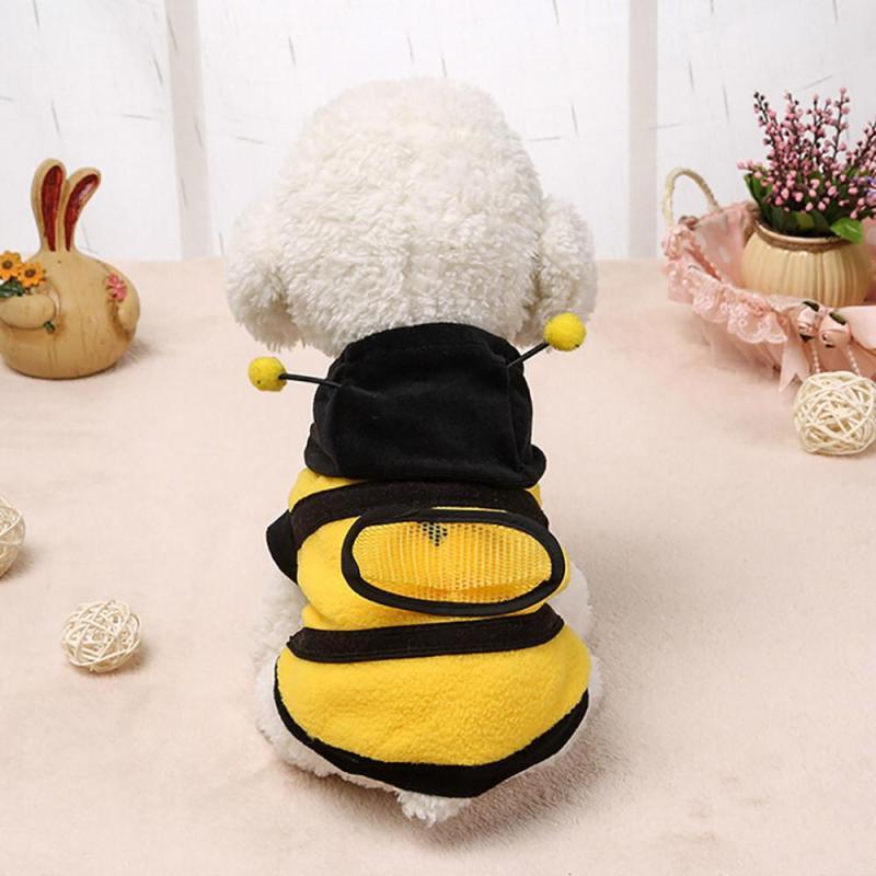 Cutie Pet Pet Dog Dễ Thương Bumble Bee Cánh Đáng Yêu Chó Mèo Quần Áo Thú Cưng