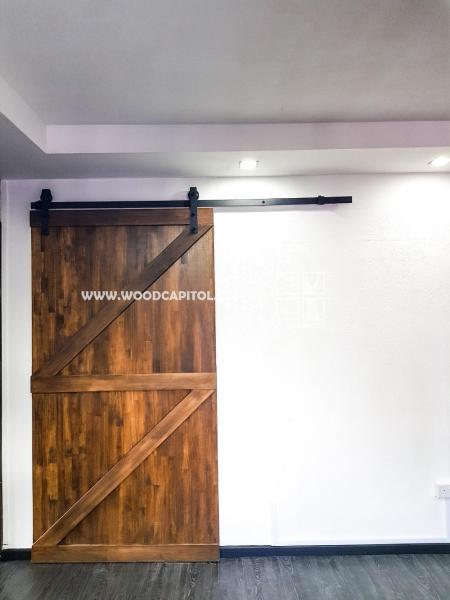 Wood Capitol Double Z Brace Sliding Barn Door