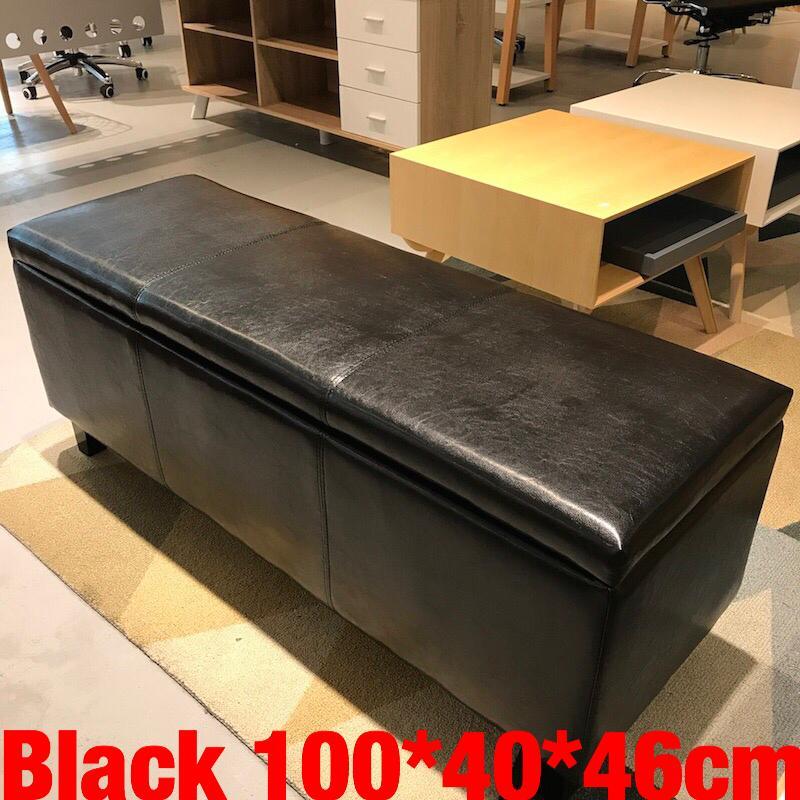 UMD Classic Design Storage Box Storage Ottoman Storage Bench with Premium PU Leather Type F (2 Sizes & 3 Colors to Choose)