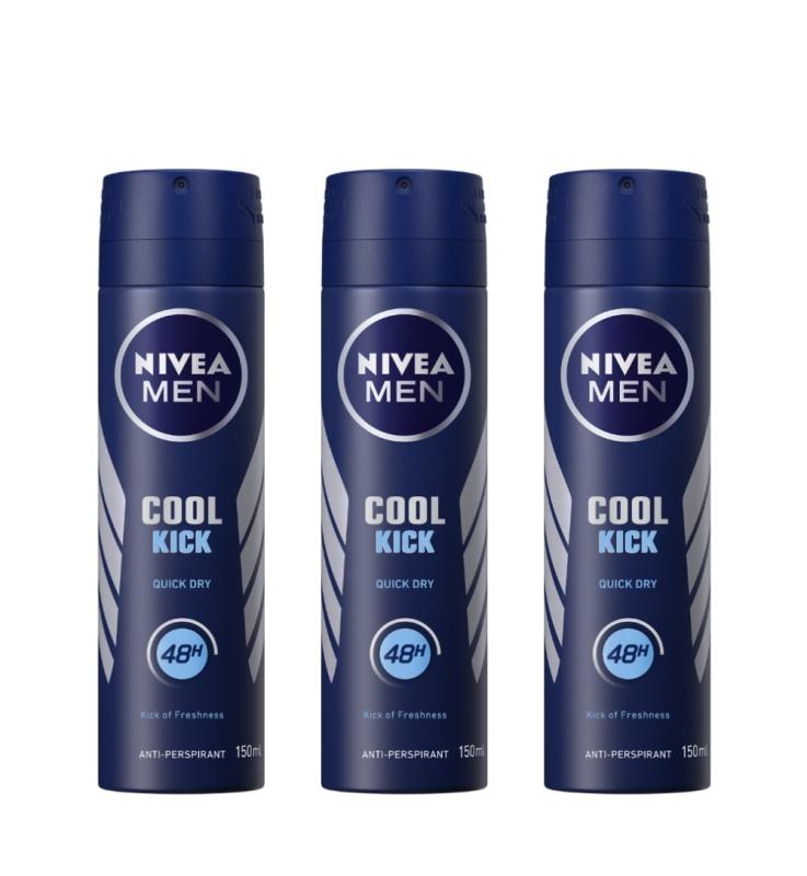 Buy (BUNDLE OF 3) NIVEA DEODORANT SPRAY COOL KICK (M) 150ML Singapore