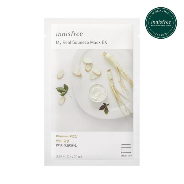 Buy innisfree My Real Squeeze Mask Ginseng EX 20ml x 12pcs Singapore