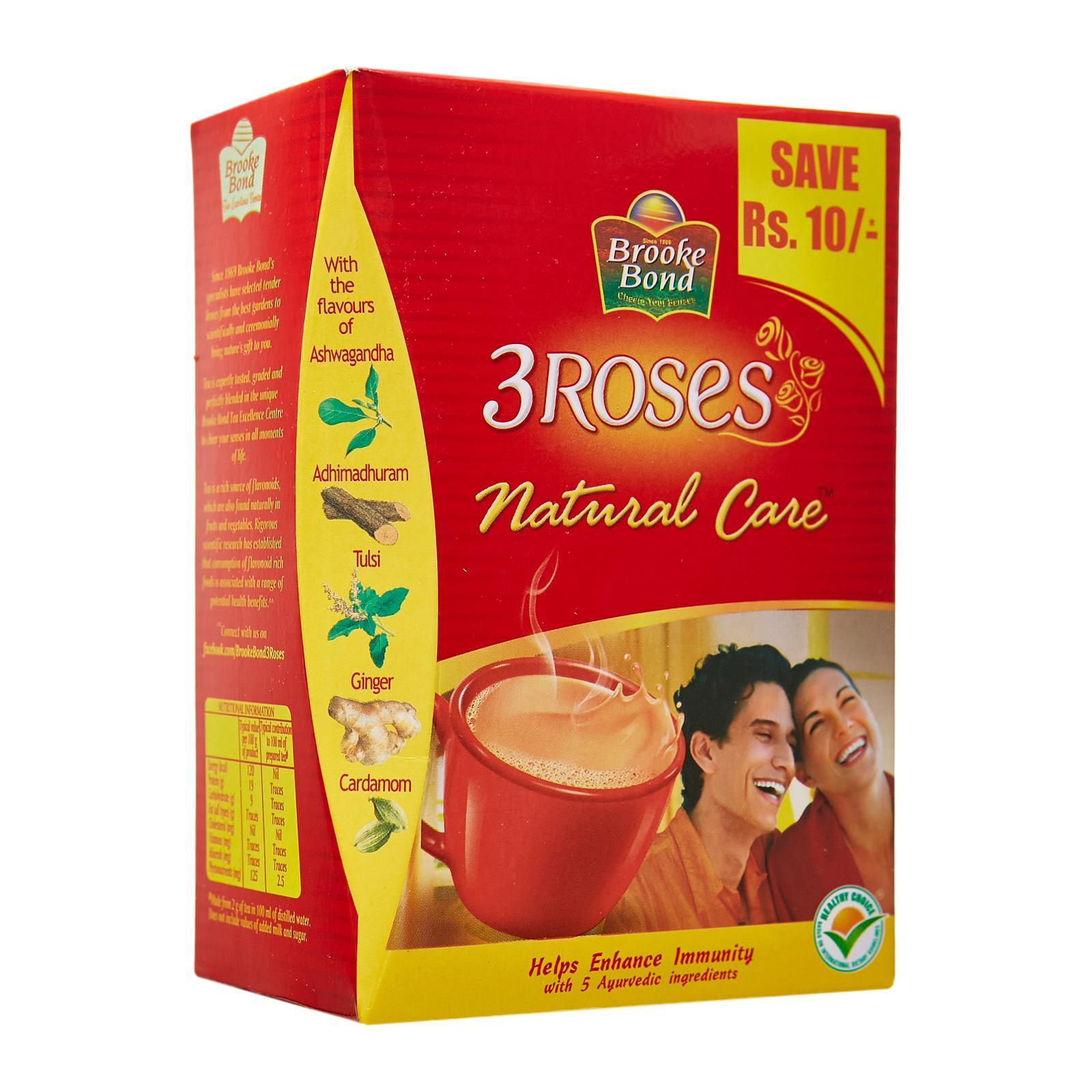 3 Rose Tea 250G, Loose black granule tea, Perfect for chai tea and The  loose tea of choice in South India