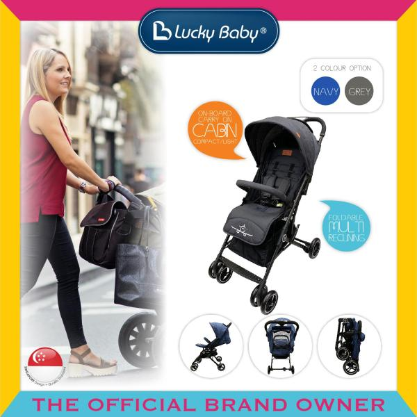 Lucky Baby® 516355 / 516362 City Travel™  Baby Stroller-Black / Blue Singapore