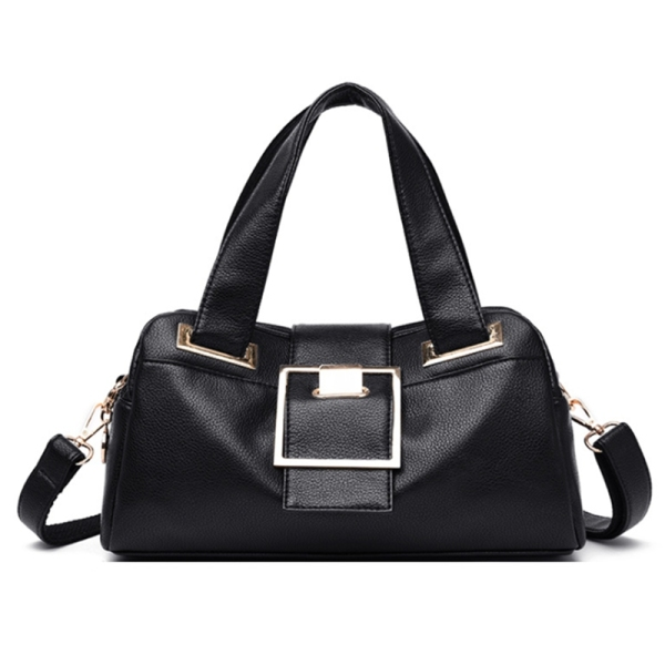 Women Leather Handbags Vintage Soft Leather Female Crossbody Shoulder Bag Designer High Capacity Top-Handle Bag