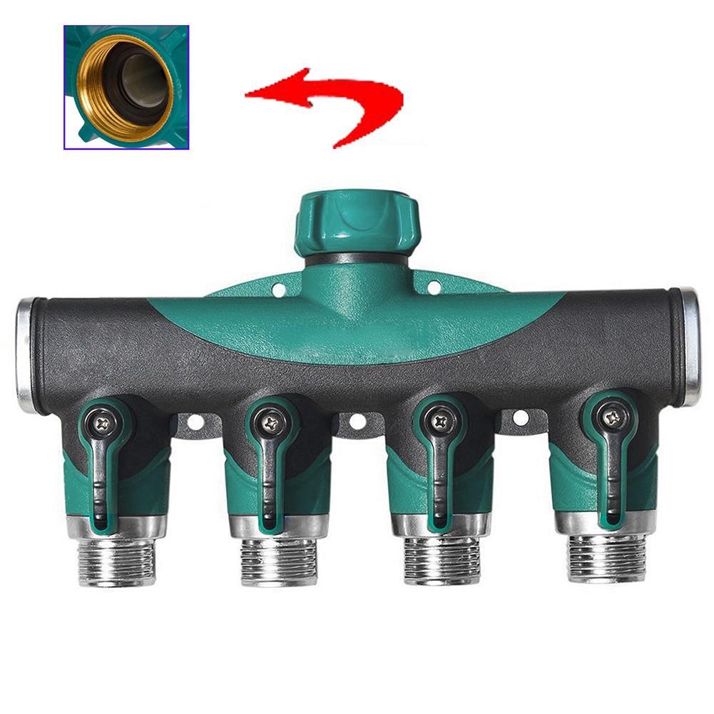 Watson Garden Water Pipe Adapter Tap Hose Valve Splitter Connector Faucet Connect 4 Way