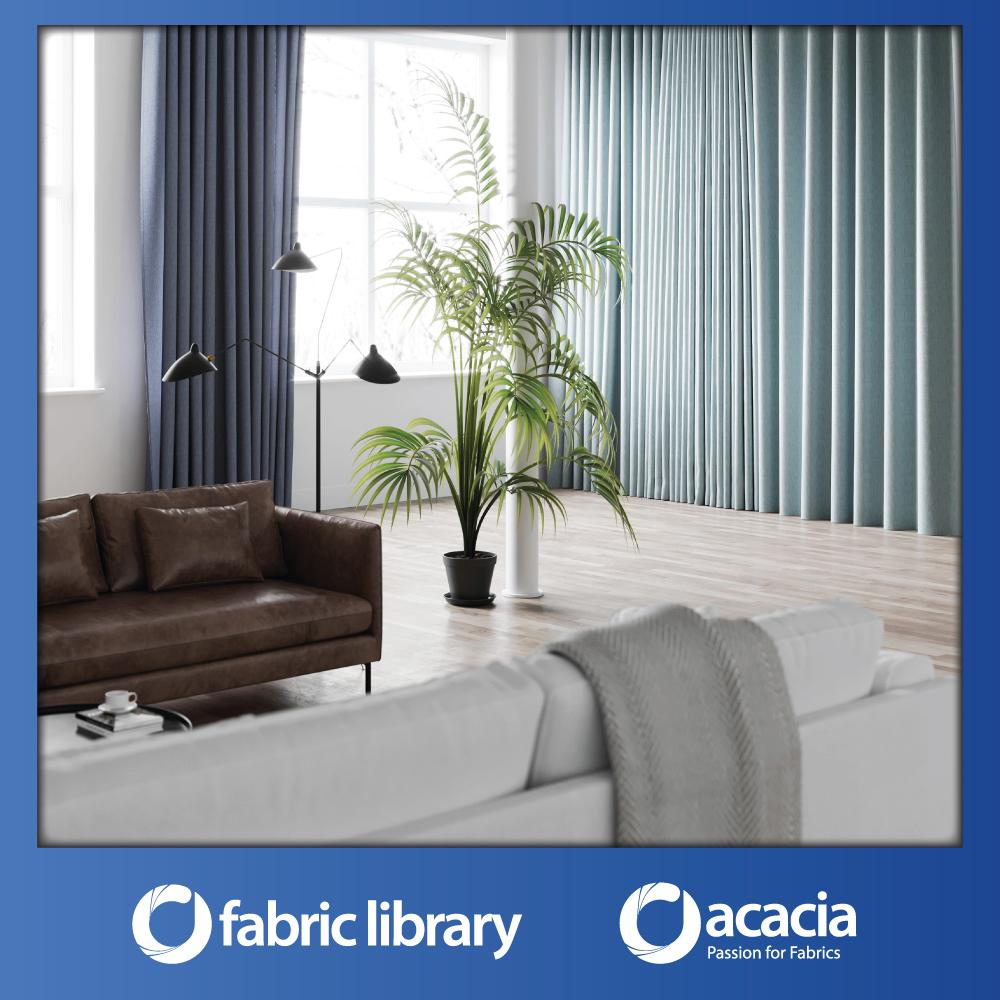 Fabric Library (Nomad) 60 x 102 Window/Sliding Door French Pleat Curtain - Nomad x 1 Panel