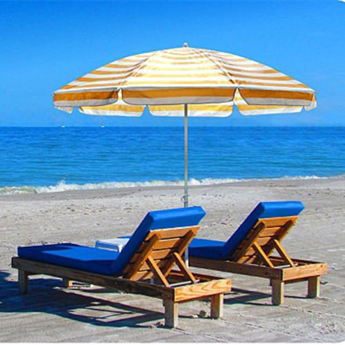 2.5m Beach Umbrella Fishing Umbrella Outdoor Patio Sun Shade Shelter Umbrella Waterproof UV Protection