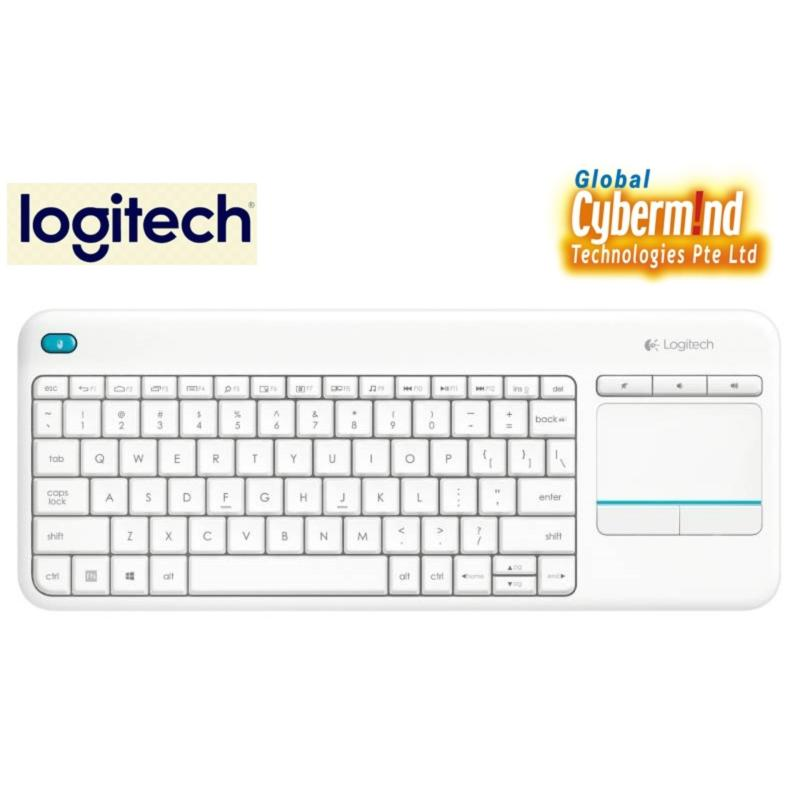 Logitech K400 Plus TV Plus Unifying Keyboard with Android Keys and Integrated Touchpad, TV-Connected PC (Local Distributor Stocks) Singapore