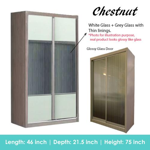 [A-STAR] NEW Sliding Wardrobe in Limewash and Chestnut Brown