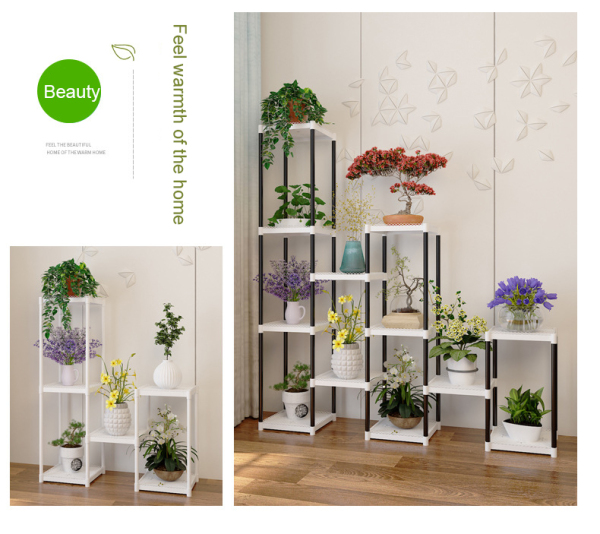 Plant Rack Shelf (3-18 Tiers) - White, Black