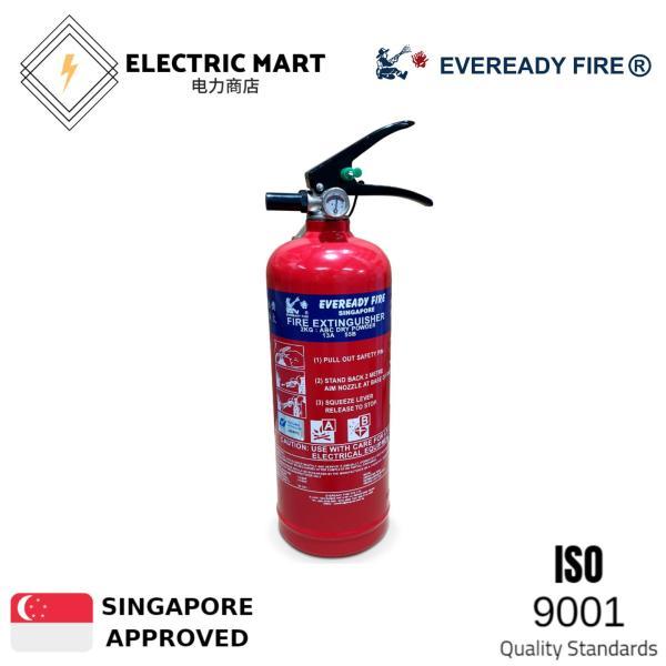 Eveready 2kg ABC Fire Extinguisher c/w Bracket (PSB Listed)