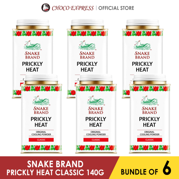 Buy Snake Brand Prickly Heat Powder 140g (Bundle of 6) / Imported from Thailand Singapore
