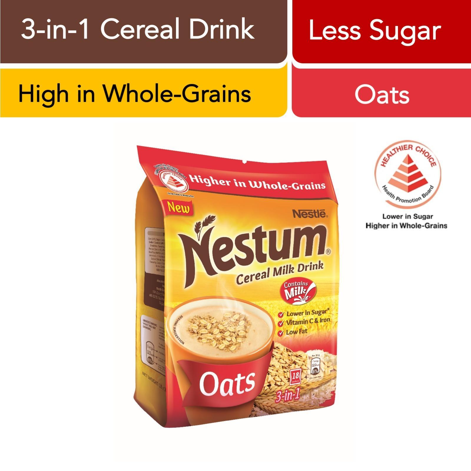 NESTUM 3 In 1 Cereal Milk Drink - Oats 18sX30g