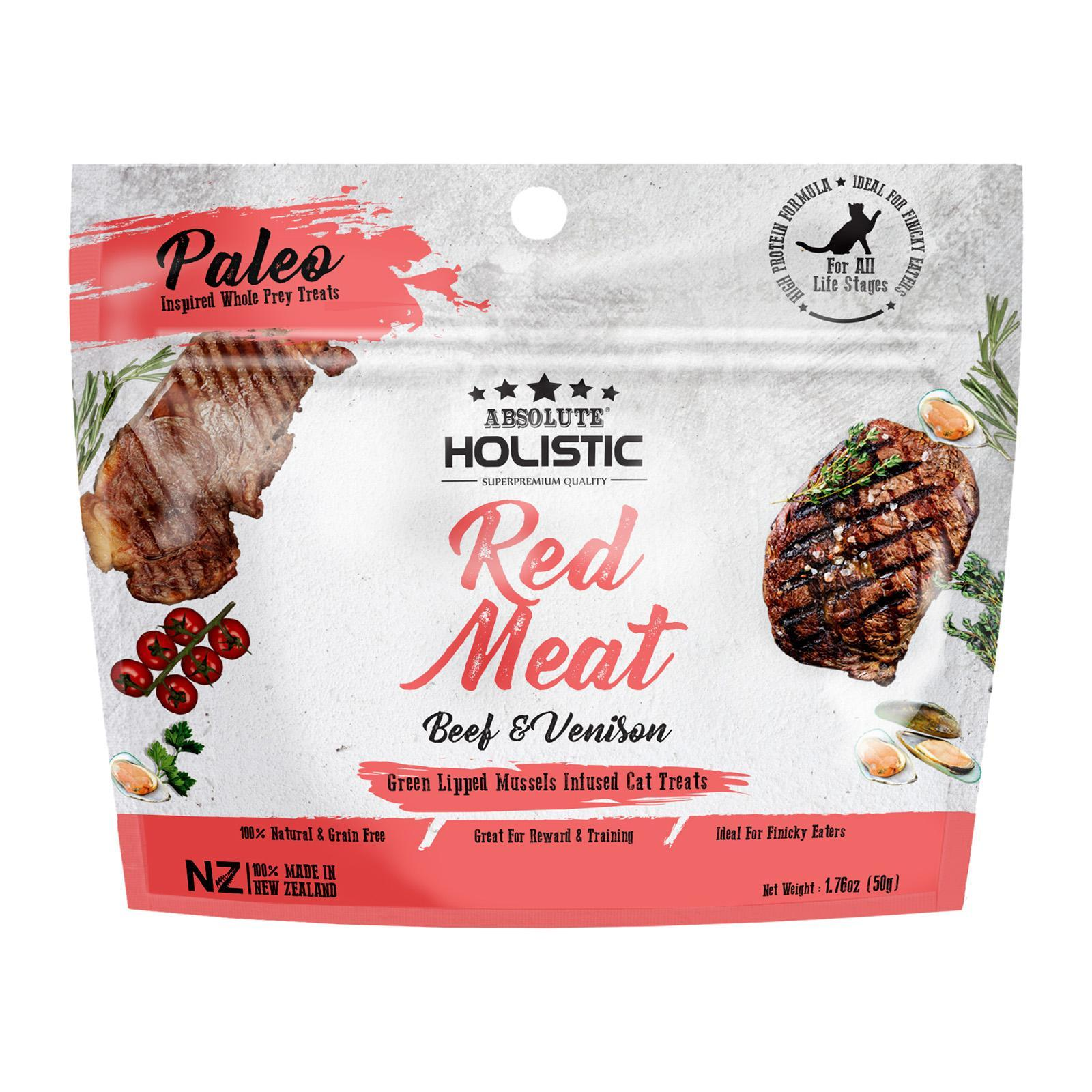 Absolute Holistic Air Dried Cat Treats (Red Meat)