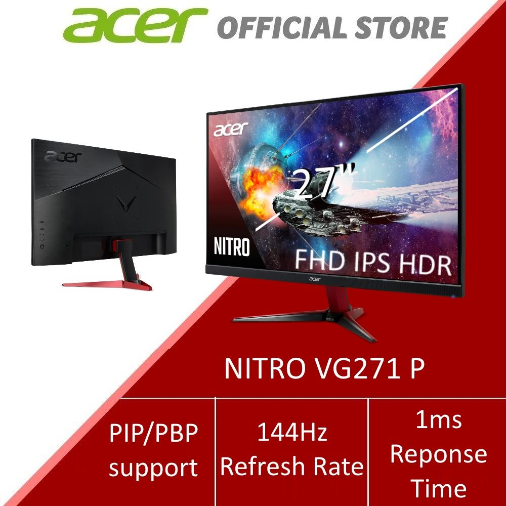 Acer Nitro VG271 P 27-Inch FHD IPS HDR Monitor with 144Hz Refresh Rate and  1ms Response Time