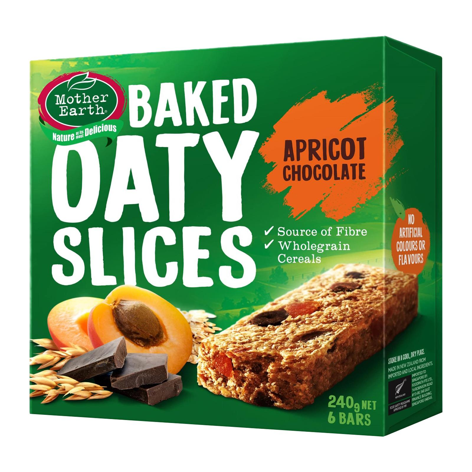 Mother Earth Baked Oaty Slice Apricot and Chocolate - by Optimo Foods