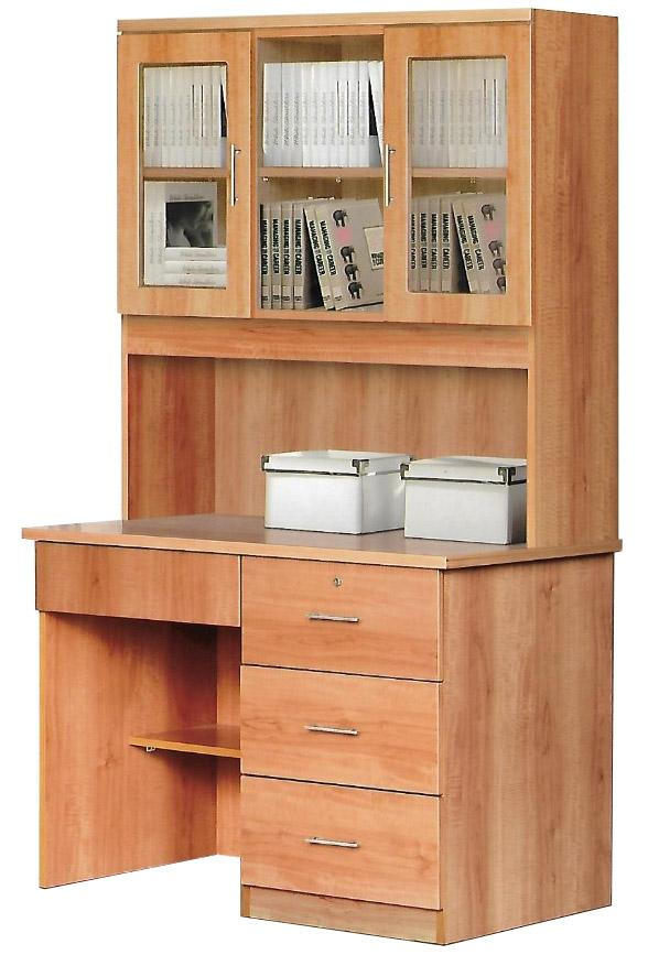 [A-STAR] Casey Solid Study Table with TOP Cabinet (with lights)
