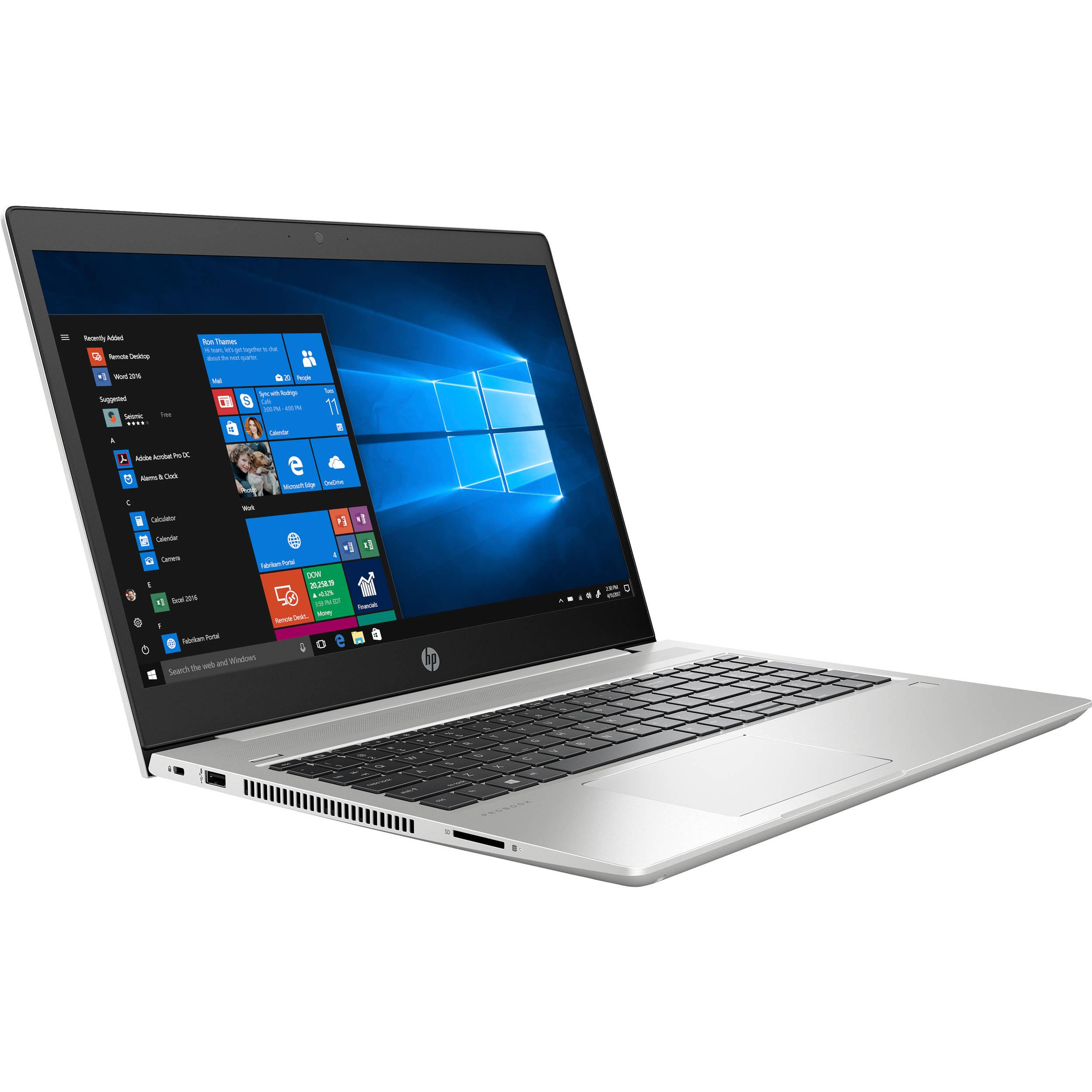 HP ProBook 450 G6 Core™ i5-8265U 1.6GHz 256GB 8GB 15.6  (1920x1080) BT WIN10 Pro Webcam SILVER FP Reader. 1 Year Warranty, Retail Box, New Factory Sealed
