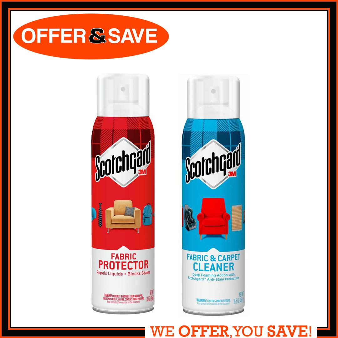 [Combo Deal] 3M Scotchgard Fabric Protector & Cleaner