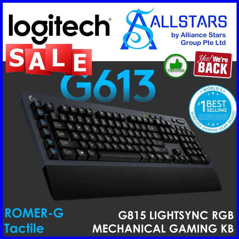 (ALLSTARS : We are Back / Gaming PROMO) Logitech G613 Wireless Mechanical Keyboard (920-008402) - Warranty 2 years with BANLEONG Singapore