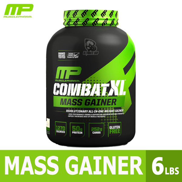 Buy MusclePharm Combat XL Mass Gainer Powder, Weight Gainer Protein Powder, MCTS Flax and Chia Seeds, 6lbs - Ultimate Sup Singapore