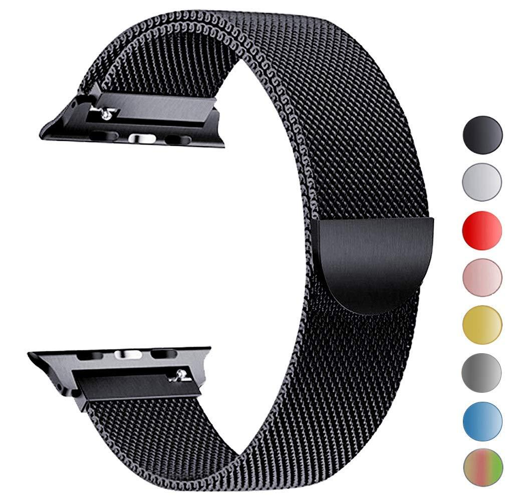 e36341158916b [SG] Apple Watch Strap [42mm / 44mm], Stainless Steel Milanese Loop
