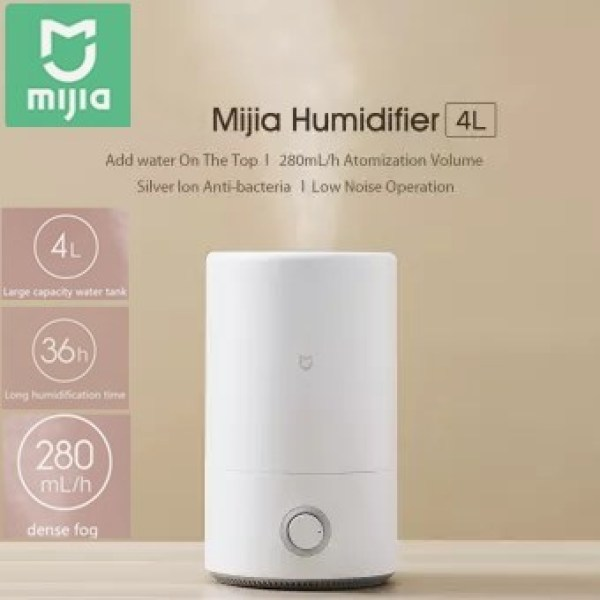 Mijia Humidifier 4L MJJSQ02LX Mute Air Purifier Aromatherapy Humidifier Diffuser Essential Oil Mist Maker 280ml/h for Office Home 220V Singapore