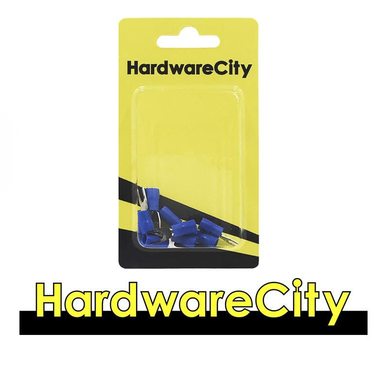 HardwareCity Fully Insulated Crimp Female Connectors, Blue (14AWG - 16AWG), 10PC/Pack