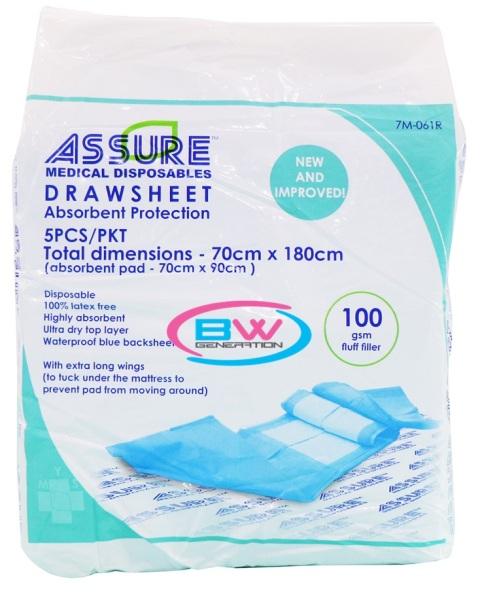 Buy Underpads Drawsheet Assure 70cmx180cm ( 2 bags bundle) Singapore
