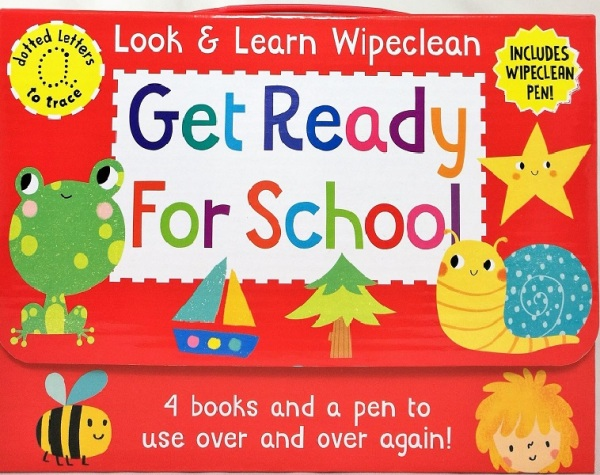 Wipe Clean Pack: Get Ready For School / English Toddler Books / (9781849993517)